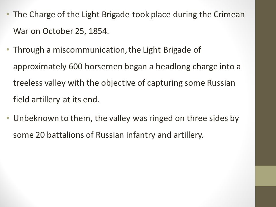 the charge of the light brigade theme