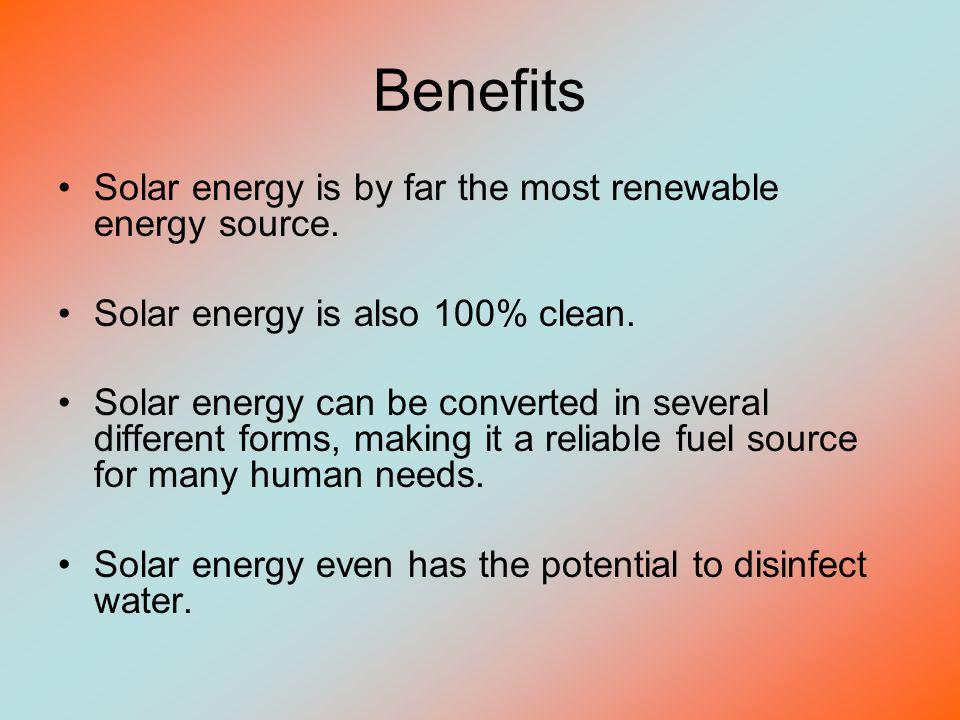 benefits of solar energy essay
