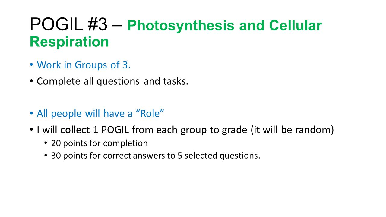 pogil activities for high school biology answer key cellular respiration