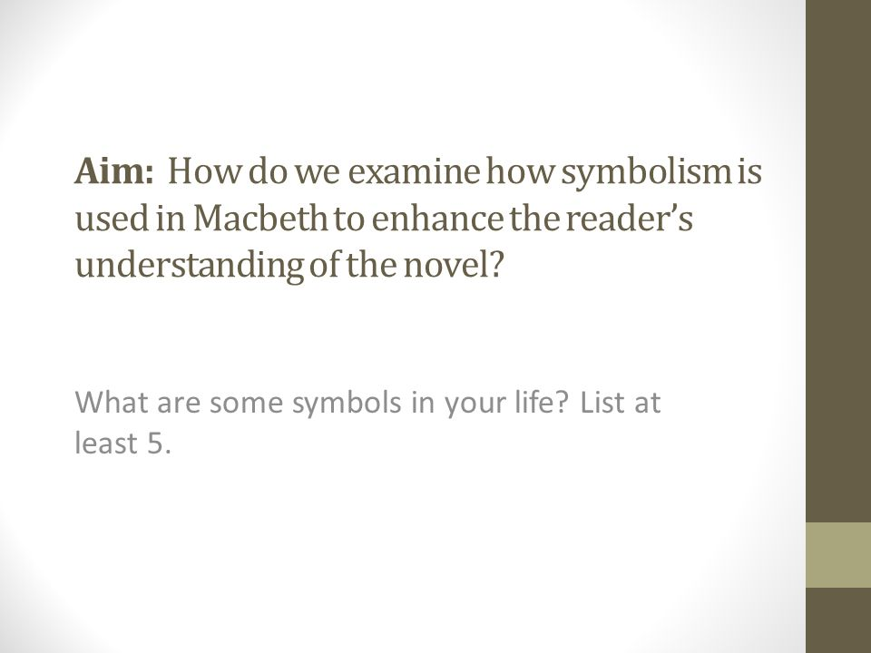 What Are Some Symbols In Your Life List At Least Ppt Download