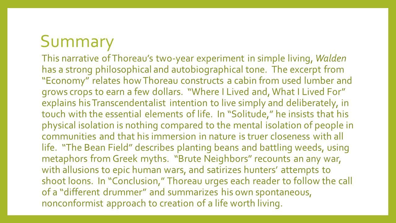 henry david thoreau summary