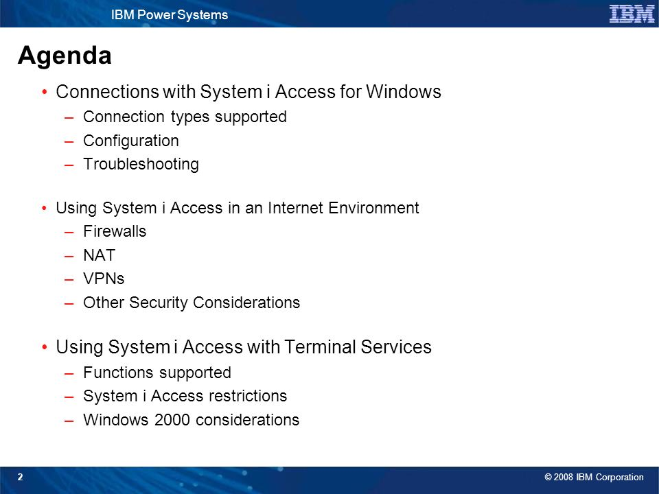 System i Access for Windows: Security and Communications