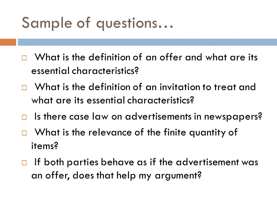 Mooting a guide to presented by mr mahyuddin daud ppt download what is the definition of an offer and what are its essential stopboris Choice Image