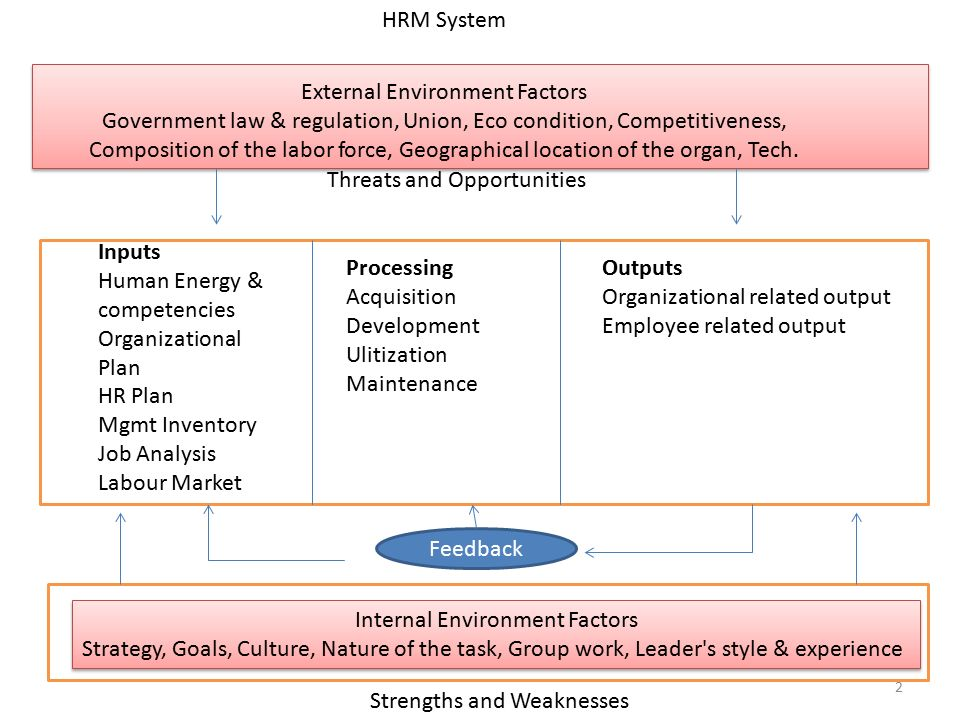 System Model Of Hrm System Composed Of Interrelated