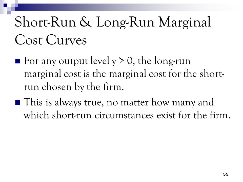 long run marginal cost