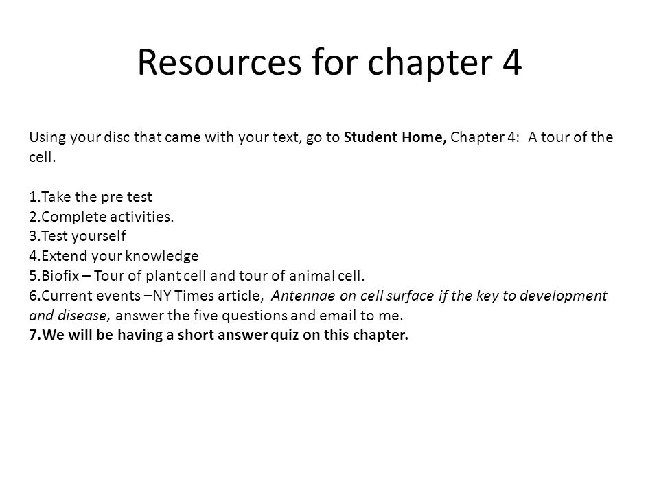 Chapter 4 A Tour Of The Cell Ppt Download
