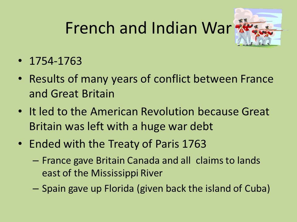 an essay on american revolution as a result of french and indian war The second of the four wars known generally as the french and indian wars, it arose out of issues left unresolved by king williams' war (1689-1697) and was part of a larger european conflict known as the war of the spanish succession.