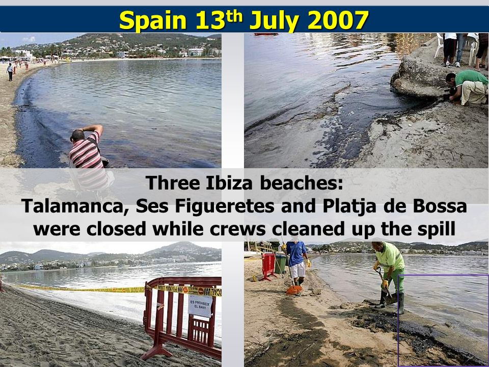 Spain 13th July 2007 Three Ibiza beaches: