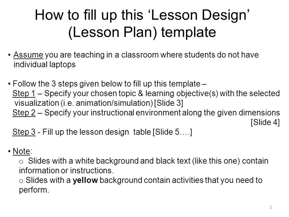Lesson Design Template For Teaching With Visualization Ppt Download