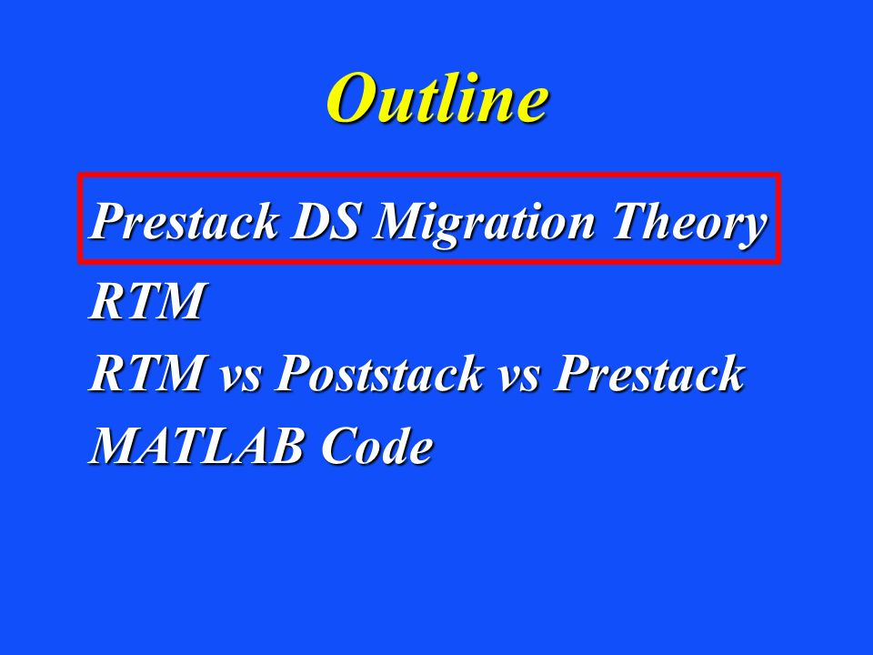 Prestack Migration Intuitive Least Squares Migration Green's