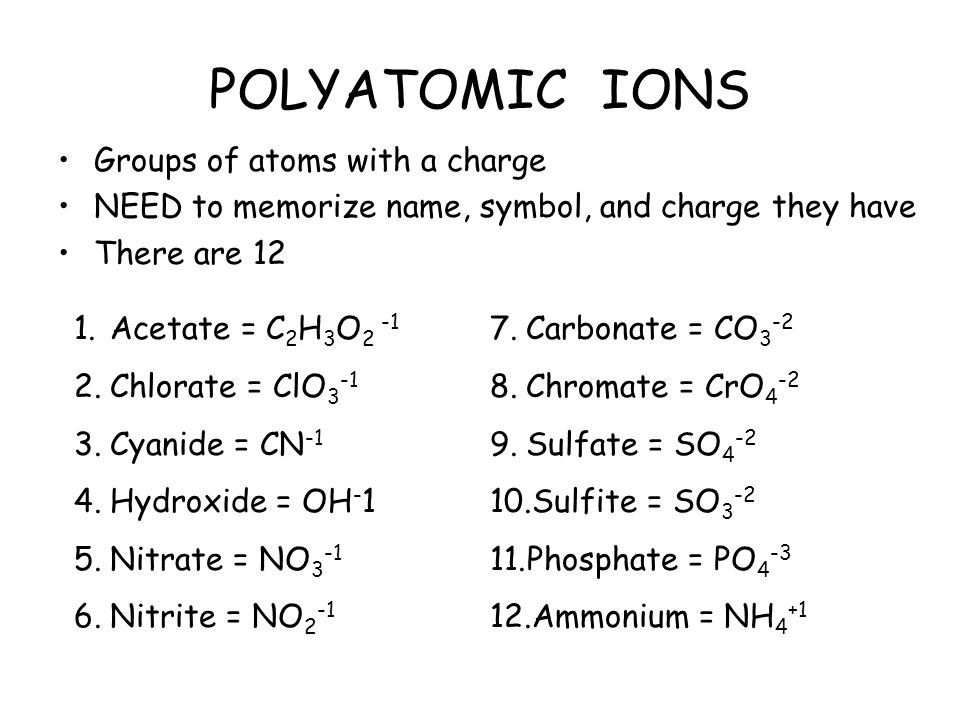 Writing Formulas Chemistry Mrs Stoops Ppt Video Online Download