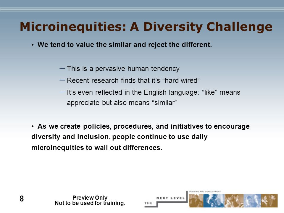 Preview Only Not to be used for training. - ppt video online download
