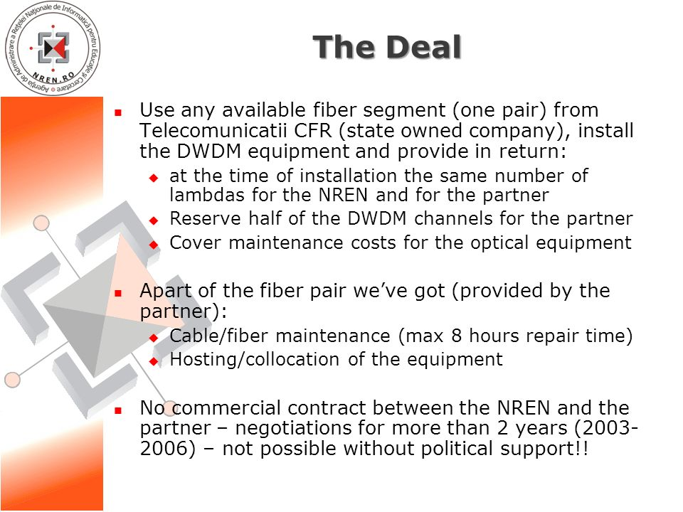 O&M of dark fibre networks (based) - good practices