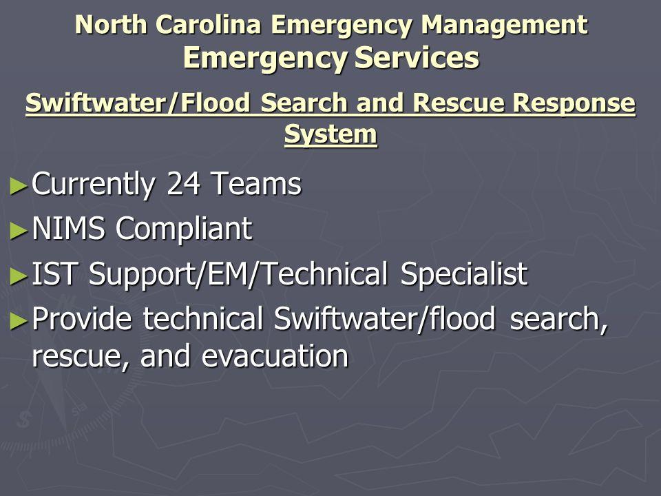 North Carolina Emergency Management Emergency Services
