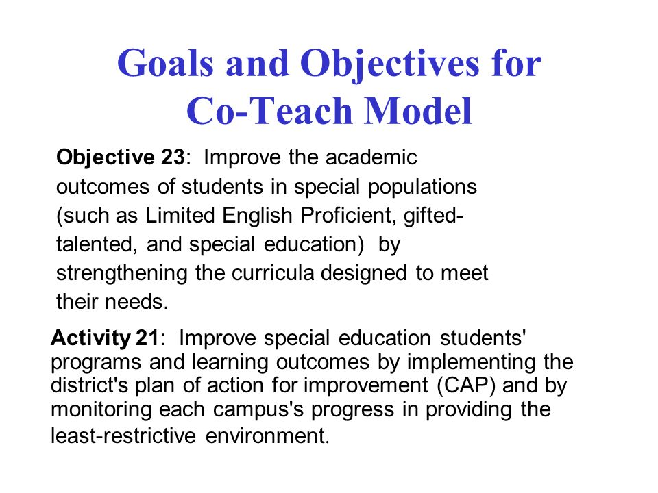 How Can We Improve Special Education >> Crafting A Co Teach Classroom Ppt Video Online Download