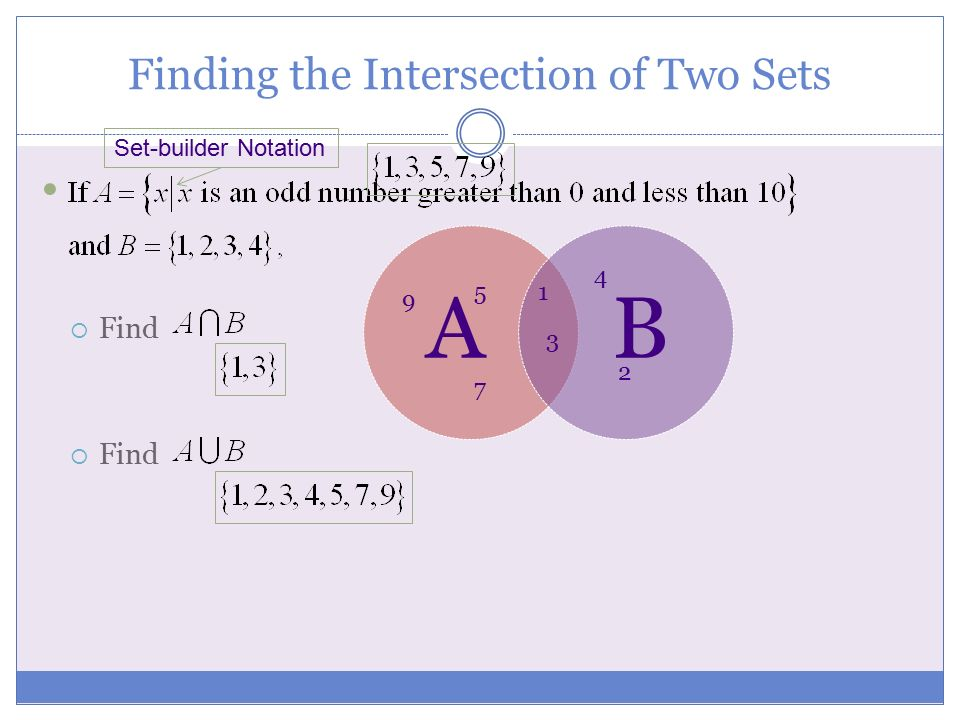 Finding the Intersection of Two Sets