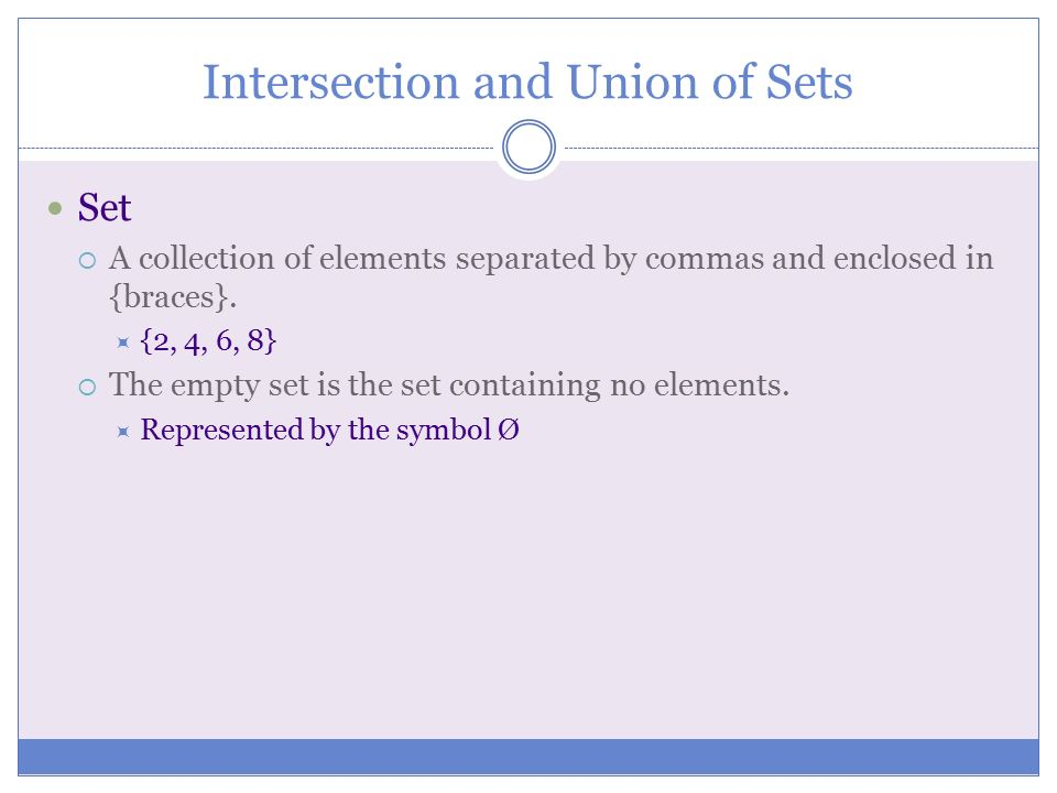 Sets of Numbers Unions, Intersections, and Venn Diagrams - ppt video ...