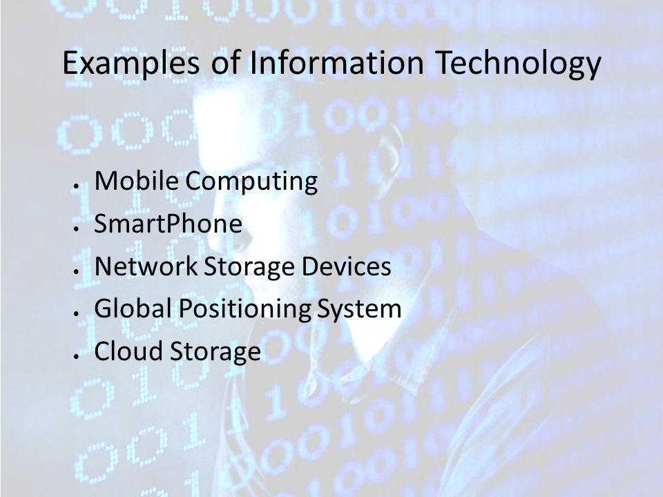 What is information technology or it? Definition and examples.