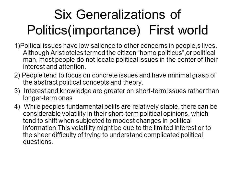 importance of politics