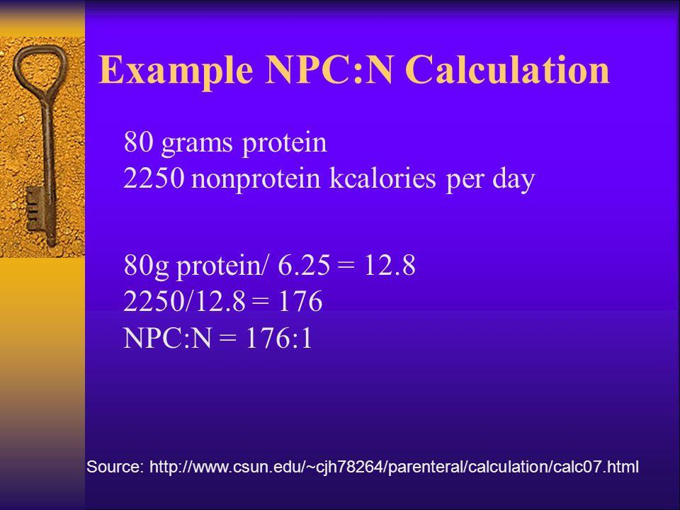 total parenteral nutrition calculations pdf