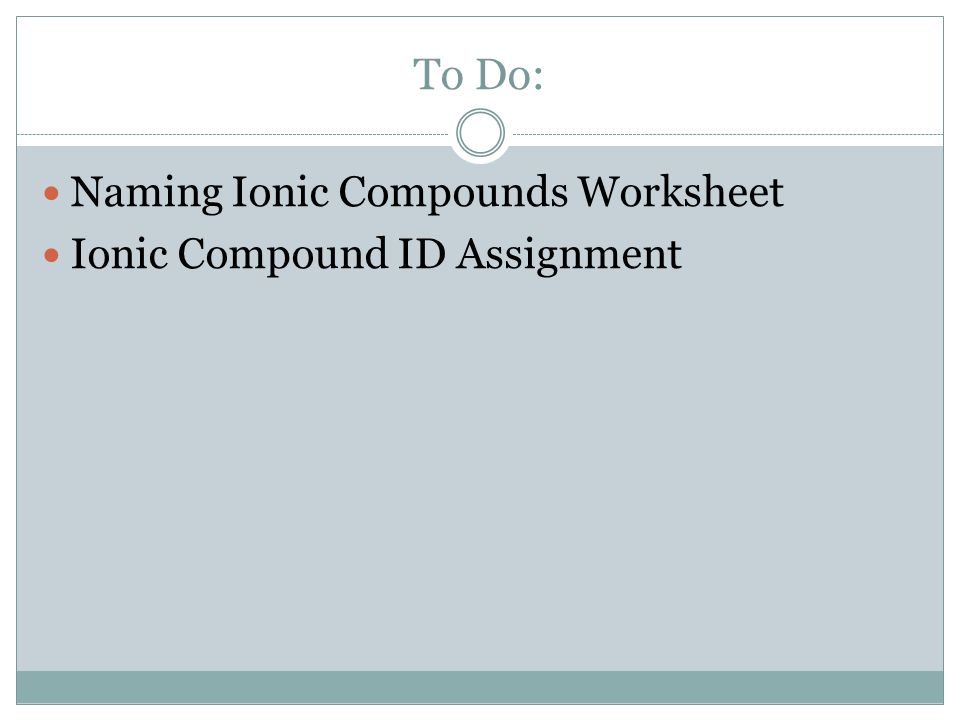 Writing Ionic and Molecular Compounds - ppt video online download