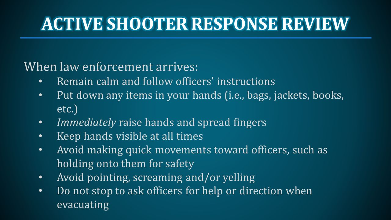 ACTIVE SHOOTER PREVENTION AND RESPONSE - ppt video online