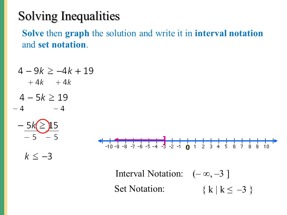 solve the inequality write answer in interval notation