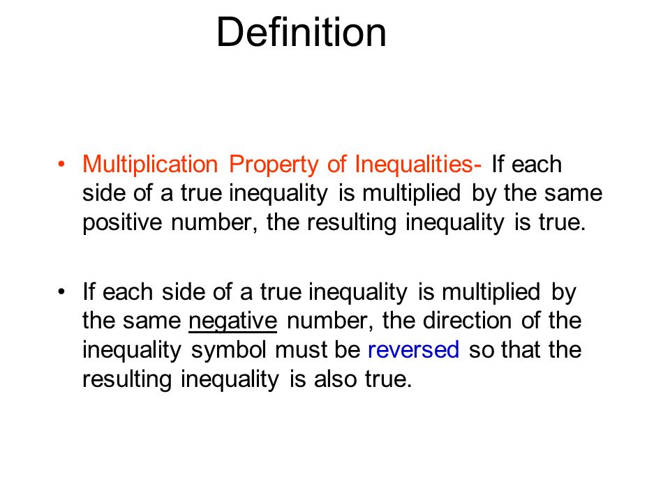 Solving Inequalities By Multiplication And Division Ppt Download