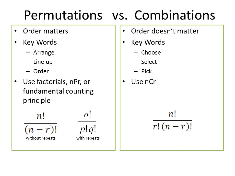 16 Permutations Vs Binations: Permutations And Binations Worksheet With Answers At Alzheimers-prions.com