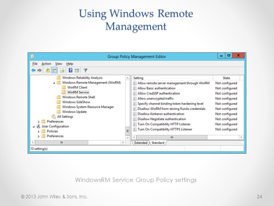 Lesson 12: Configuring Remote Management - ppt download