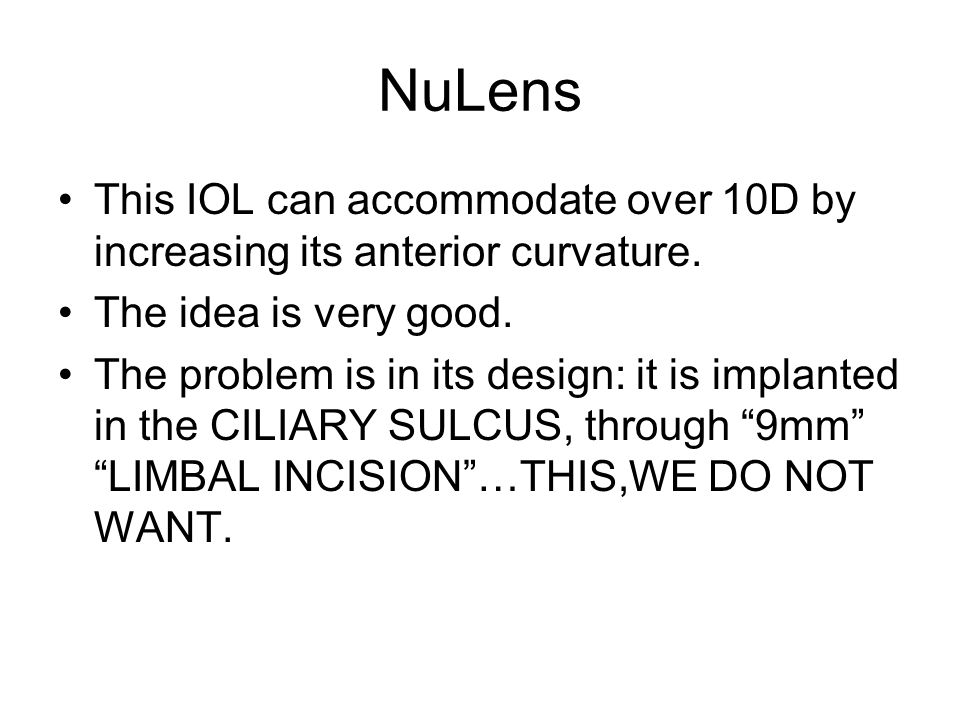 Els nulens accommodating