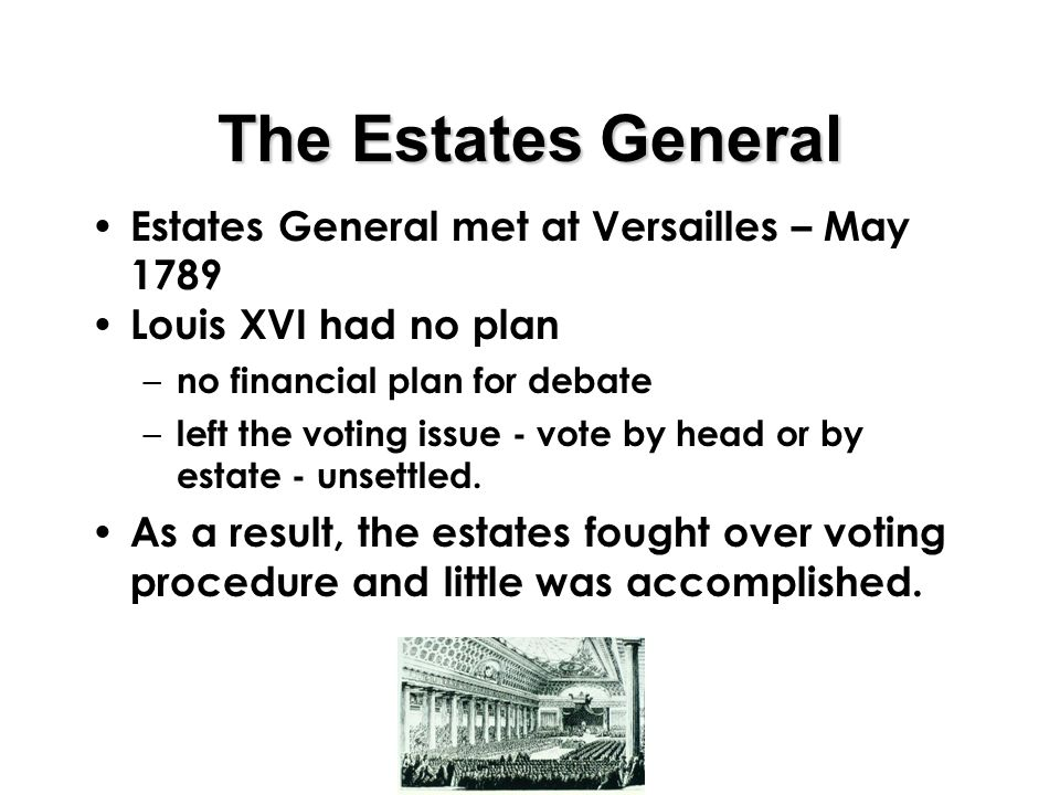 Simulation The King Assembles Estates General For Advice Ppt. The Estates General Met At Versailles May 1789. Wiring. 1789 Estates General Diagram At Scoala.co