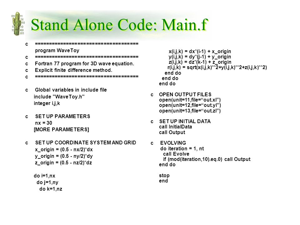 Example Application: 3D Scalar Wave Equation - ppt video