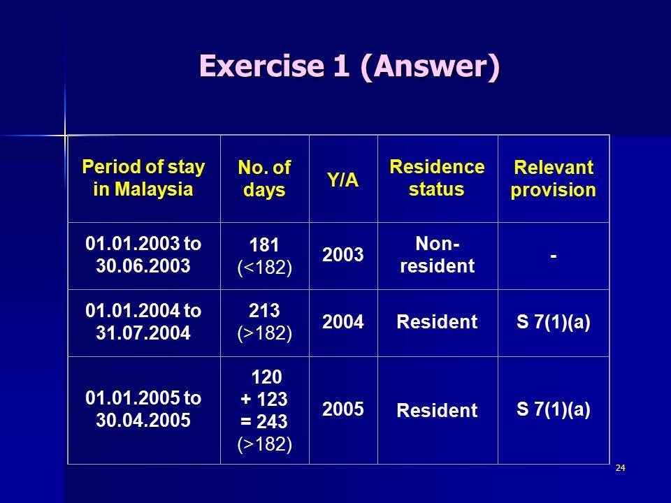 Residence Status Ppt Download