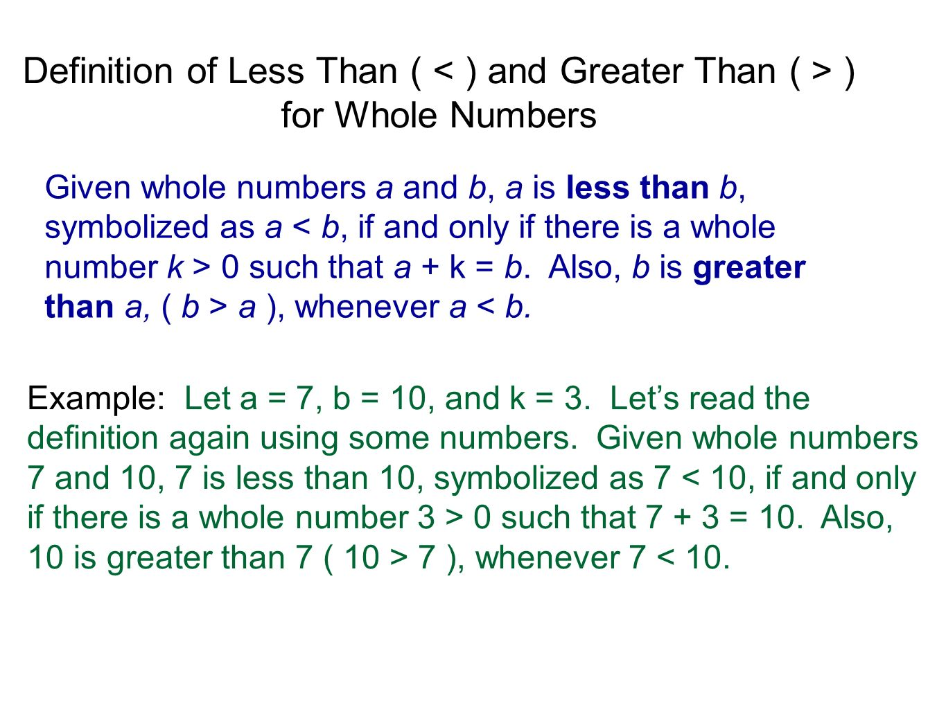 Addition And Subtraction Of Whole Numbers Ppt Video Online Download