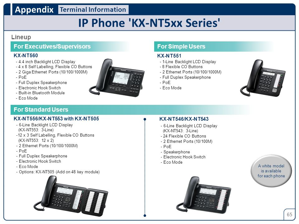 IP Phone KX-NT5xx Series