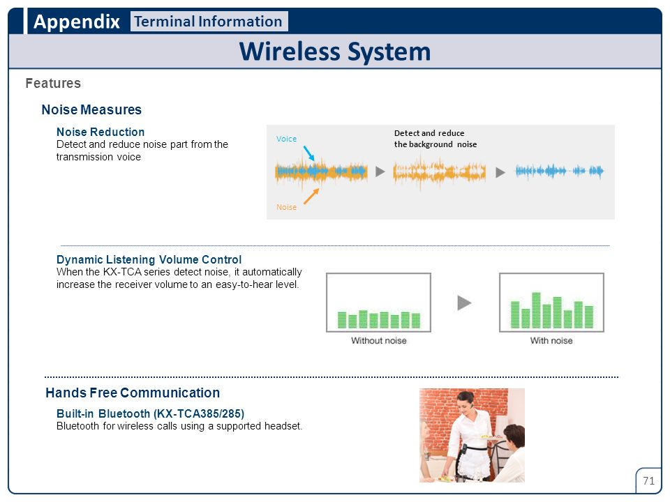 Wireless System Terminal Information Features Noise Measures