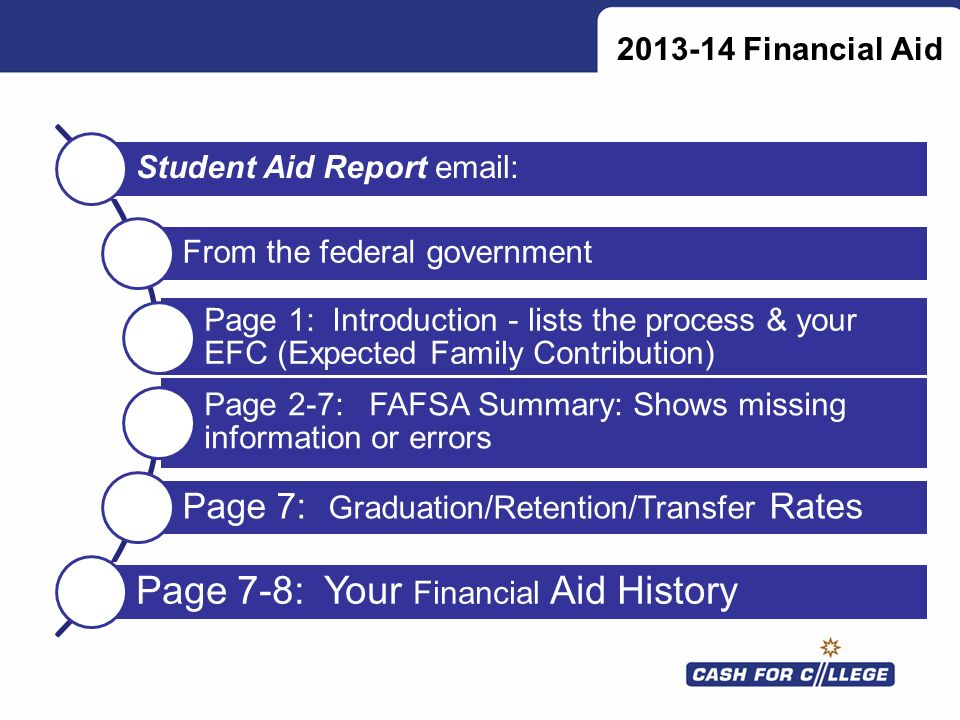 Page 7-8: Your Financial Aid History
