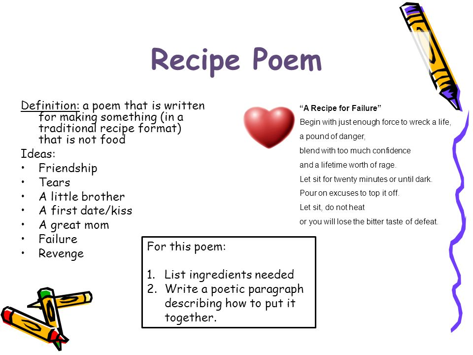Poetry forms power point 6 ppt video online download 5 recipe forumfinder Gallery