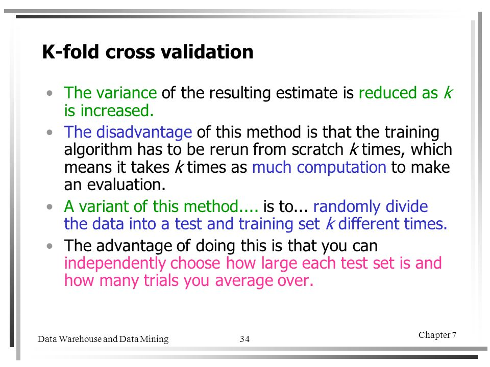 K Fold Cross Validation Algorithm