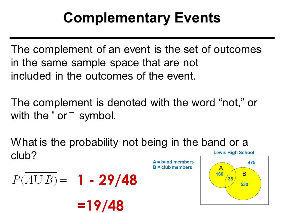 Compound Probability A Compound Event Combines Two Or More Events