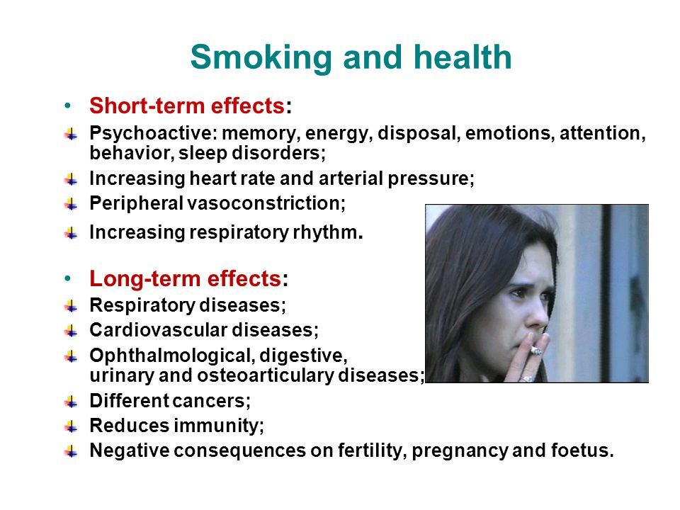 Long Term Effects Of Smoking >> 9 Health Disorders Related To Tobacco Use And Passive Smoking Ppt