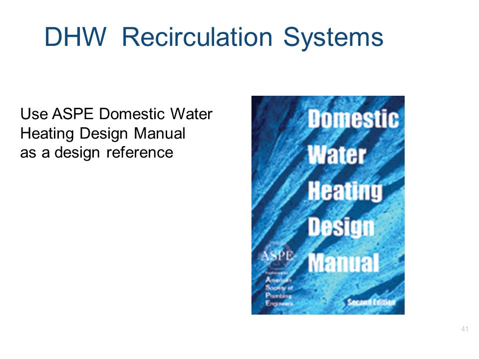 learning outcomes upon completion of this training one should be rh slideplayer com aspe domestic hot water heating design manual pdf