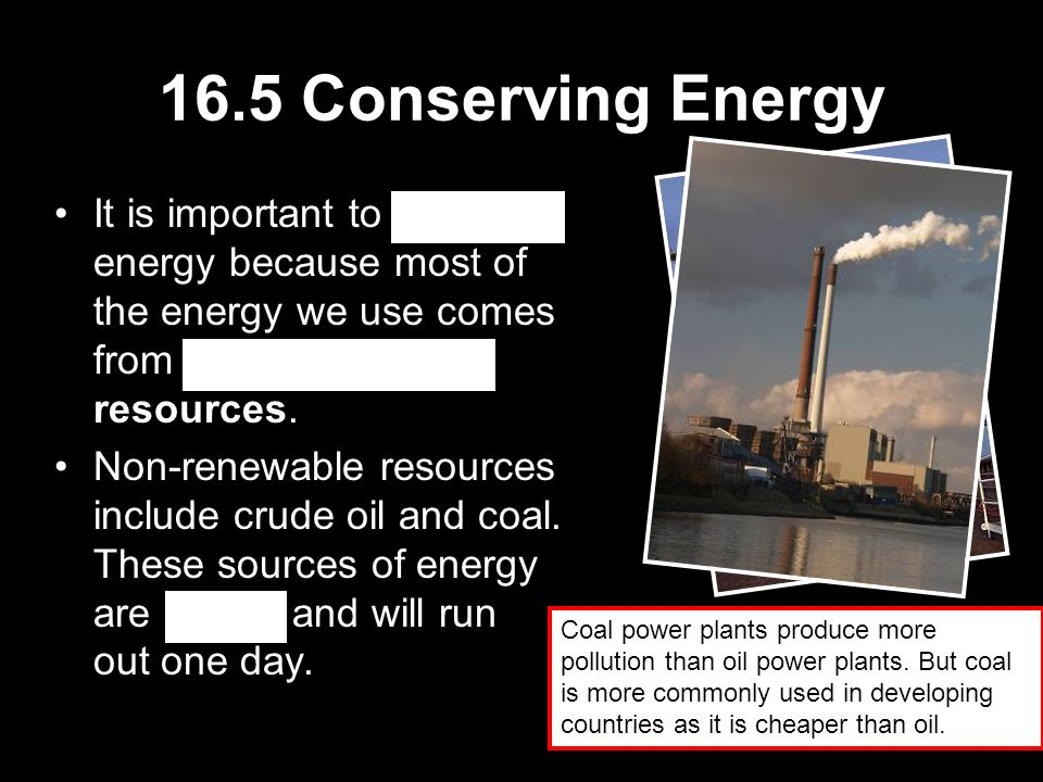 importance of conserving energy sources