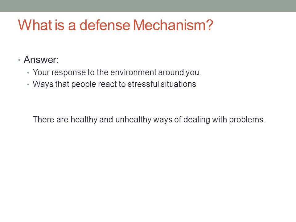 Defense Mechanisms Ppt Video Online Download