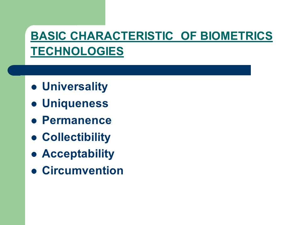 Image result for Characteristics of biometric images
