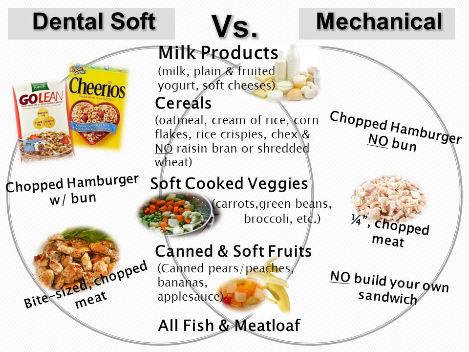 foods allowed on mechanical soft diet