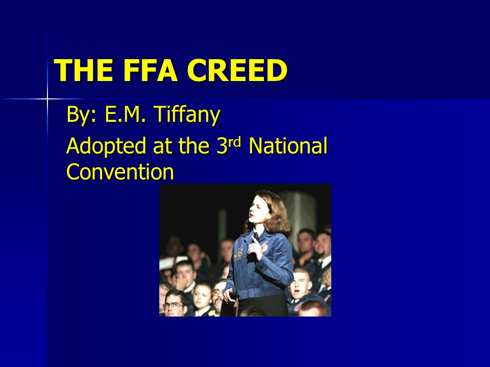 By: E.M. Tiffany Adopted at the 3rd National Convention