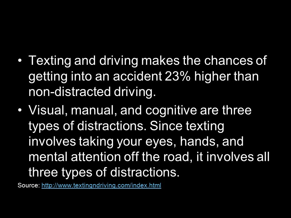 Texting and Driving Statistics  - ppt download