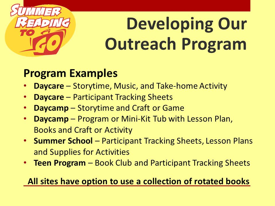 narrative report about outreach program